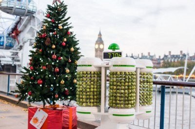 Christmas Tree Powered By Brussels Sprouts On Show In London