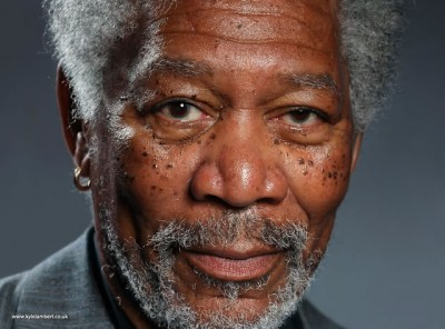 iPad App Software Used To Create Perfect Morgan Freeman Portrait