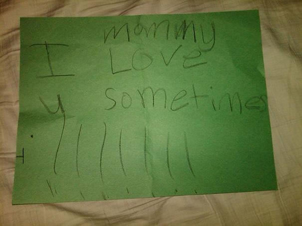 39 Funny Messages Left By Kids On Paper Notepads (11)