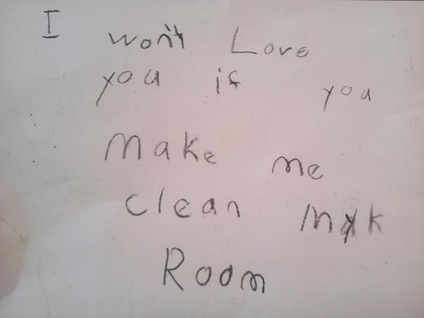 39 Funny Messages Left By Kids On Paper Notepads (6)