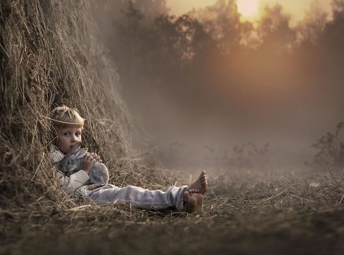 Amazing Kids On The Farm Stock Photograph Collection (1)