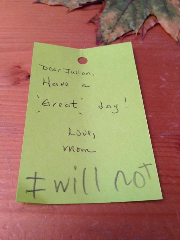 Funny Messages Left By Kids (1)