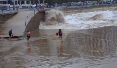Latin Woman Gets Swept Away By Sea After Taunting Mother Nature