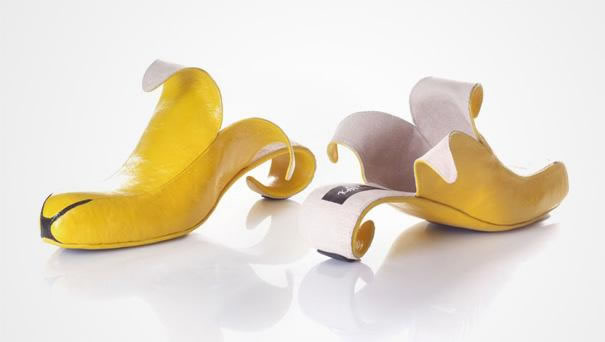 Banana Slip-On High Heels