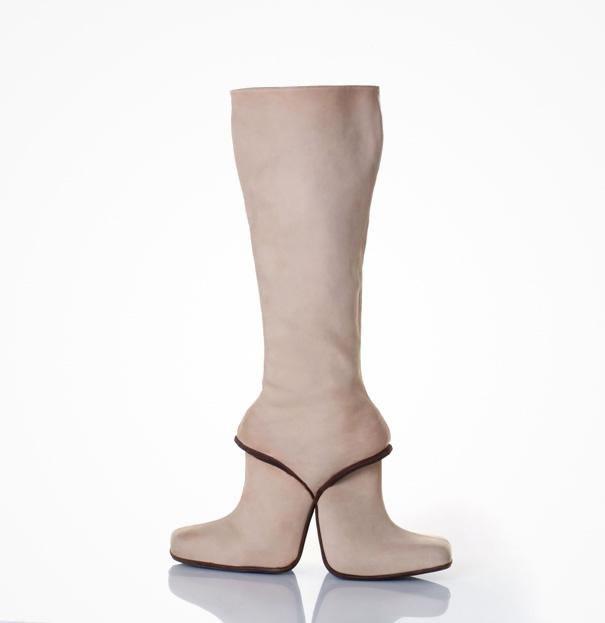 Double Boots High Heels