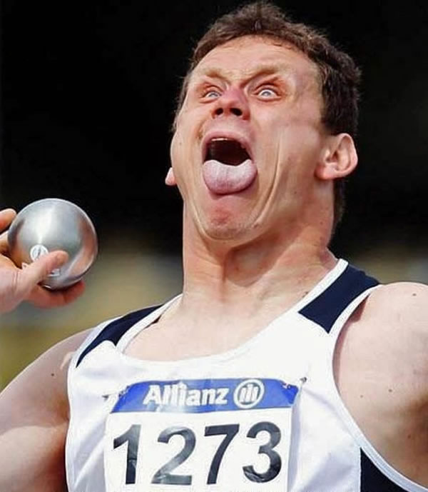 Professional Photography Pictures Of Athletes Pulling Funny Faces 2