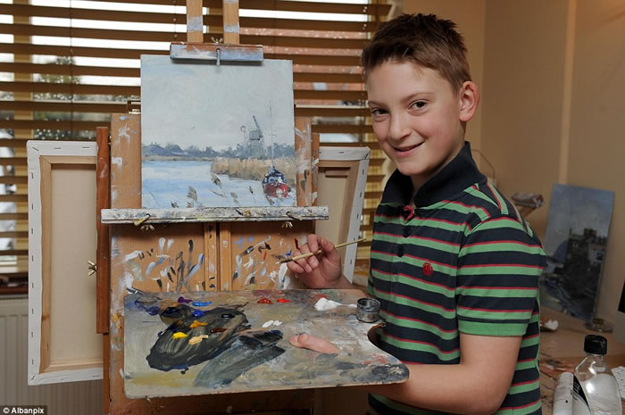 11 Year Old Boy Sells Monet Style Paintings For 2.5 Million Dollars