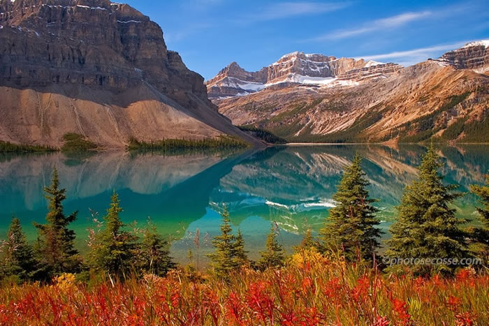 15 Of The Best Stock Photo Images Of The Stunning Bow Lake In Alberta 11