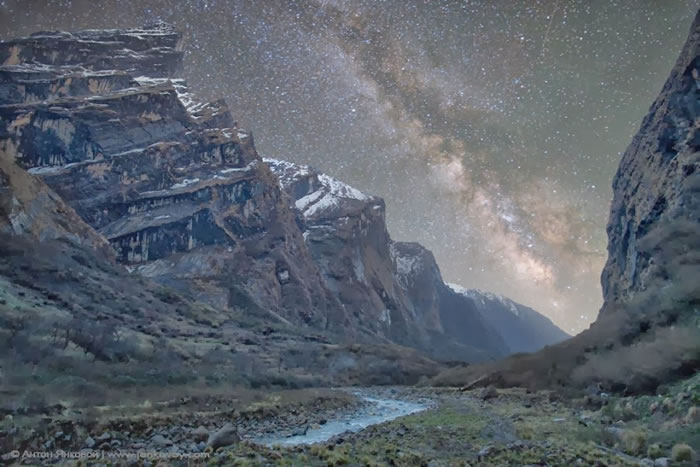 19. Milky Way above the Himalayas by Anton Jankovoy
