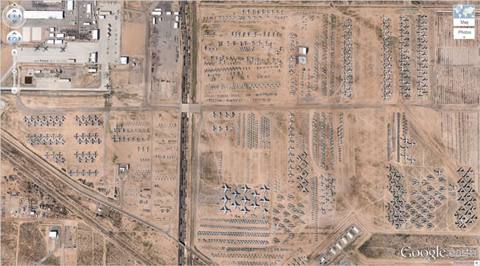 21 airplane-boneyard-tucson-arizona-google-earth