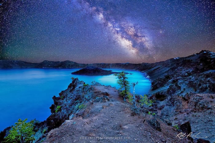 27. Starry Night over Crater Lake by Rick Parchen