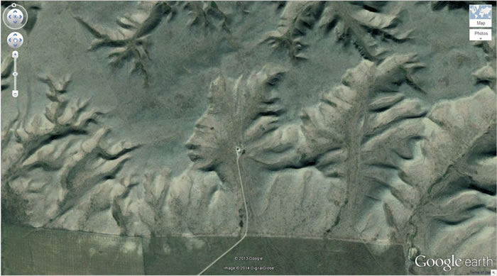 7 side-profile-of-a-face-google-earth- 21 Amazing Mysterious Google Earth Satellite Images