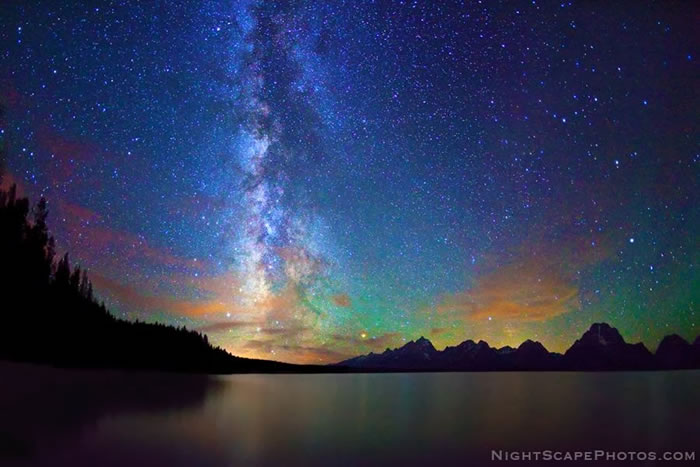 7. Milky Way over Jackson Lake by Royce's NightScapes