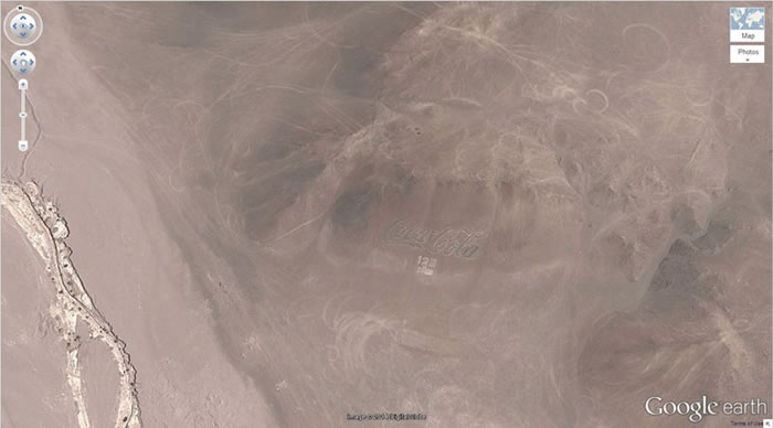 9 coca-cola-chile- 21 Amazing Mysterious Google Earth Satellite Images