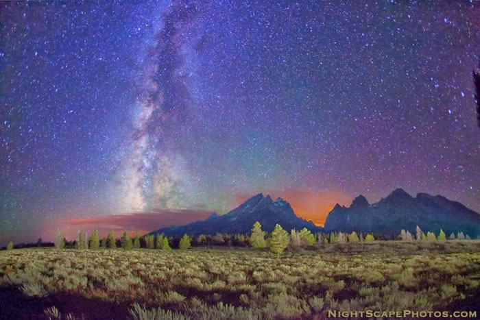 9. Stars over Teton Range
