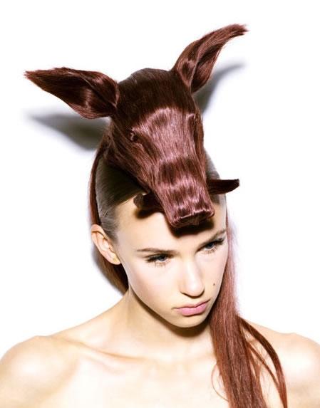 Amazing Animal Shaped Hairstyles By Nagi Noda 5