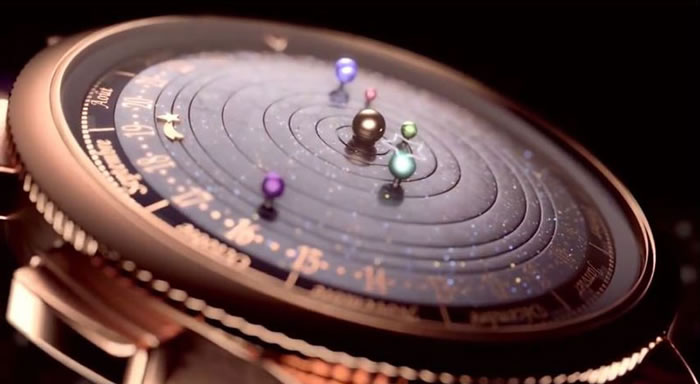 Amazing Luxury Watch Shows Planets Orbiting The Sun