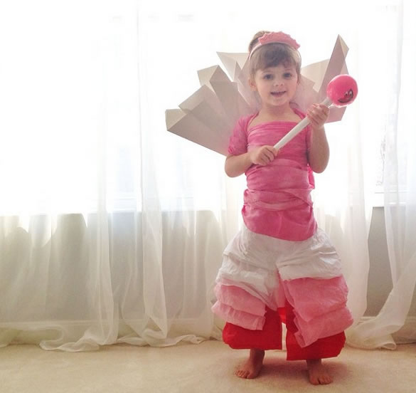 Cute Little Girl Models Paper Versions Of Famous Fashion Design Dresses 11