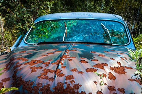 Eerie Classic Cars Graveyard At Abondaned Old Cars Junk Yard 13