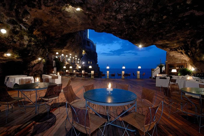 Hotel Ristorante Grotta Palazzese Polignano a Mare, 24 Amazing Hotels You Should Visit Before You Die