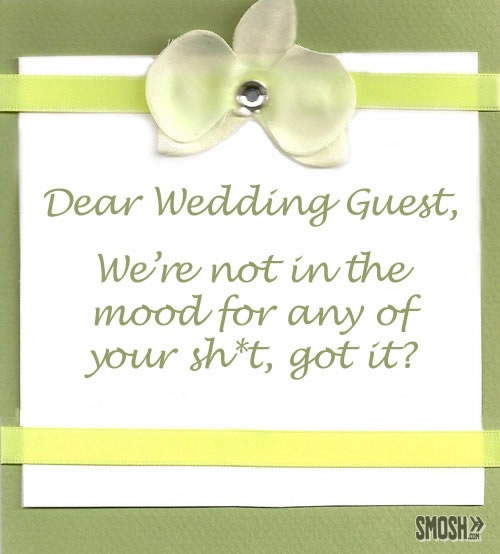 Wedding Reception Invitation Wording Funny: Funny Wedding Invitations Top 20 Hilarious Cards