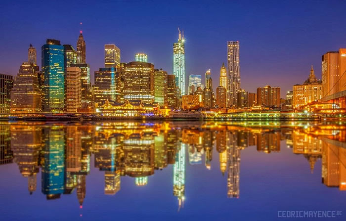 23. Manhattan Cityscape Reflections - NYC