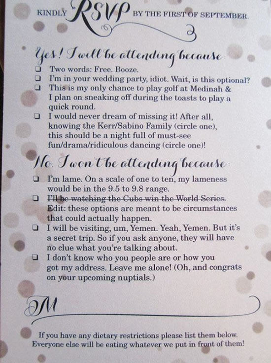 4 Funny Wedding Invitation Top 20 Hilarious Cards (8)