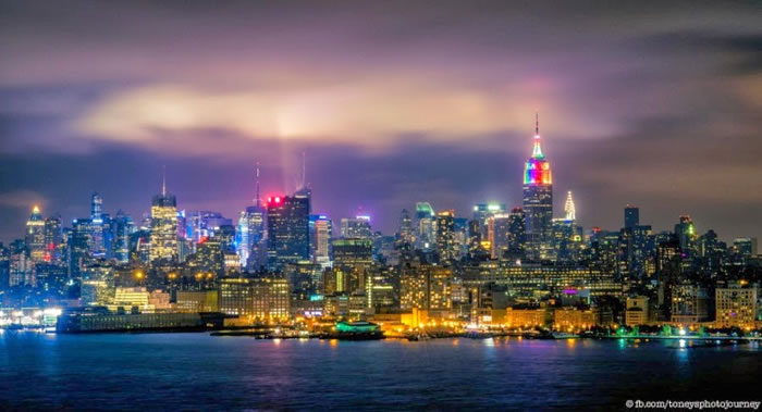 5. Rainbow on Empire State Building - Amazing New York Stock Photos Taken At Night