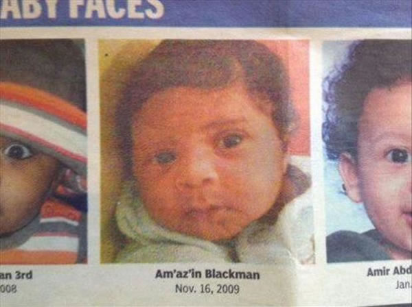 People Who Need To Seriously Consider A Name - Amazin Blackman