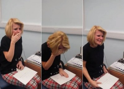 Watch A Deaf Hearing Impaired Woman Hear Sounds For First Time Ever