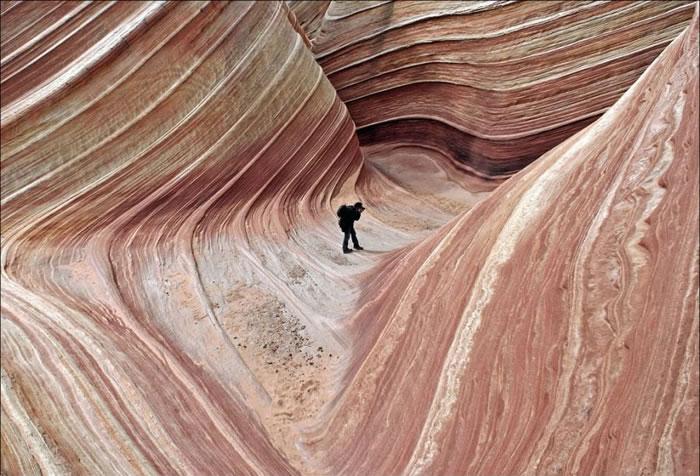 Wavy rocks on the Colorado Plateau, USA