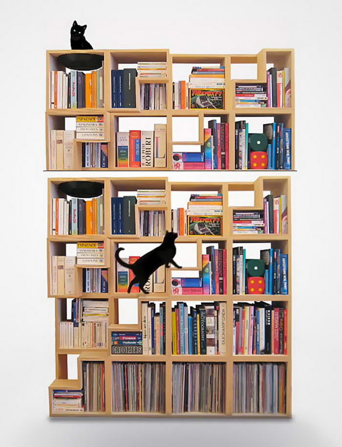 10 Creative Cat-Library by Corentin Dombrecht For Cats And Small Dogs 5