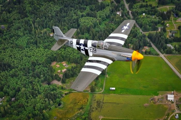 Spectacular Aviation Photography By Brent Clark - 3. 'Impatient Virgin' P-51C Mustang