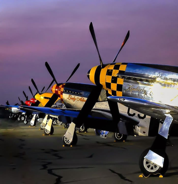 19 Spectacular Aviation Photography Pictures By Brent Clark - 4. 51 Mustang Line up at Chino 2013