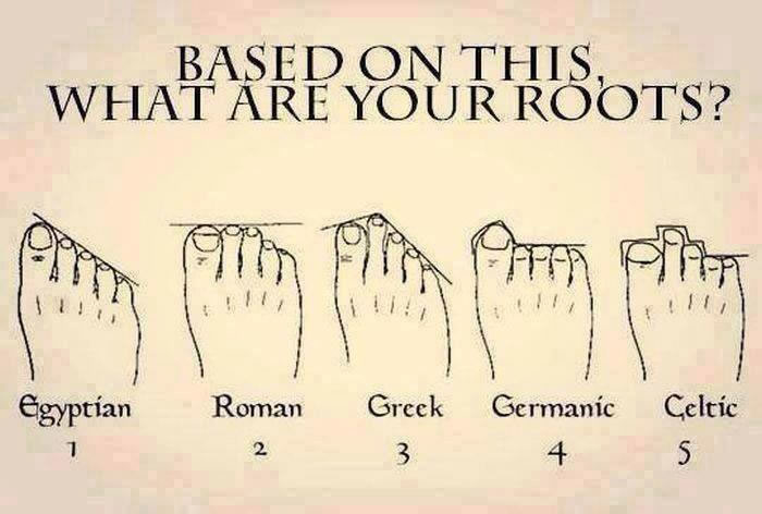 Discover Your Ancestors Origins From The Shape Of Your Feet