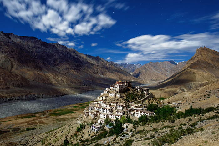 Key Gompa, Spiti Valley of Himachal Pradesh, India