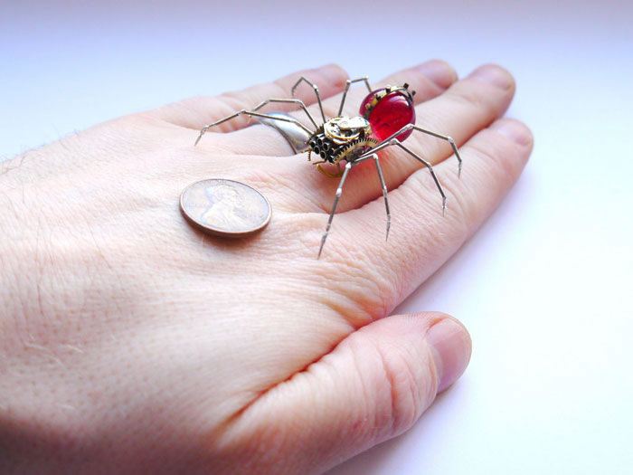 Mechanical Insects Made From Watch Parts (1)
