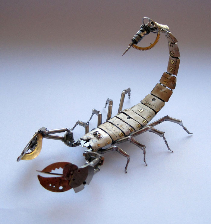 Mechanical Insects Made From Watch Parts (2)