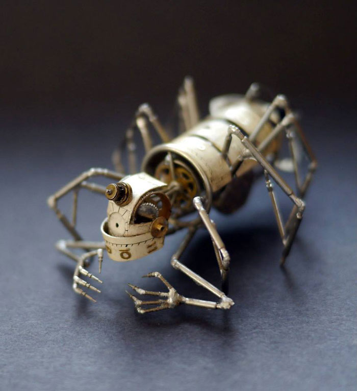 Mechanical Insects Made From Watch Parts (3)