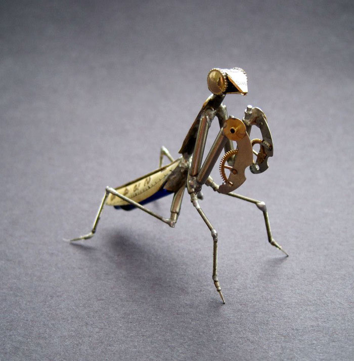 Mechanical Insects Made From Watch Parts (4)