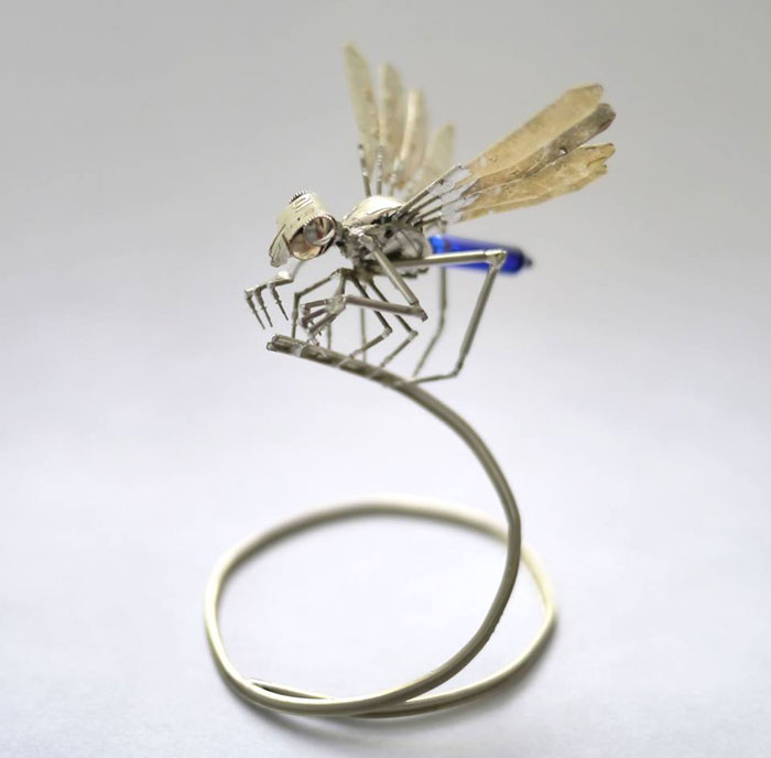 Mechanical Insects Made From Watch Parts (5)