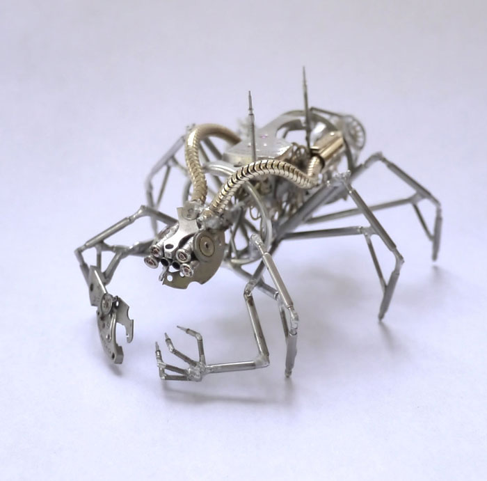Mechanical Insects Made From Watch Parts (7)
