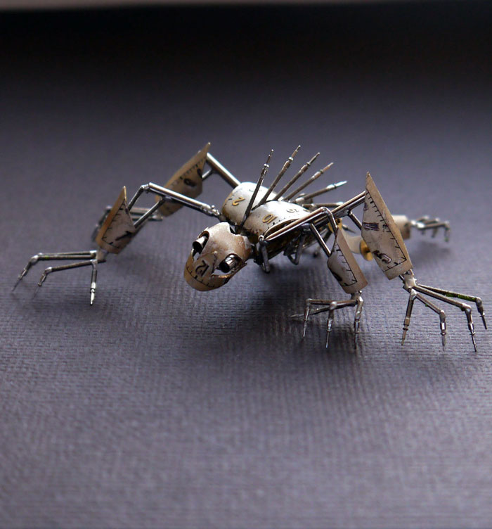 Mechanical Insects Made From Watch Parts (8)