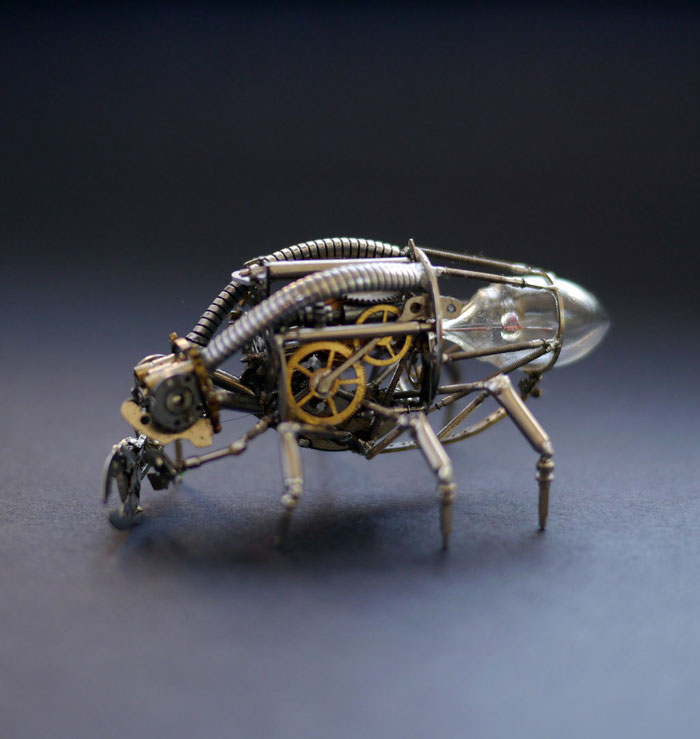 Mechanical Insects Made From Watch Parts (9)
