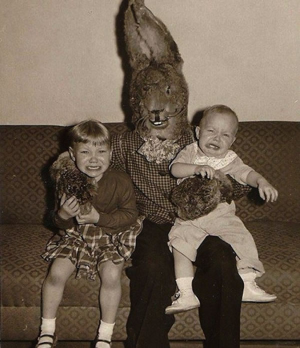 These Scary Easter Bunnies Are More Likely To Make Children Cry 8