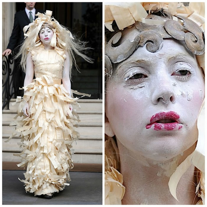10 Most Outrageous Dresses Worn By Lady Gaga In Public 4