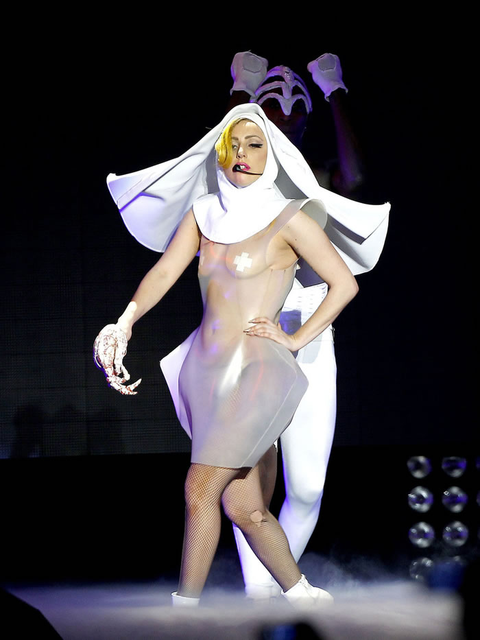 10 Most Outrageous Dresses Worn By Lady Gaga In Public 8