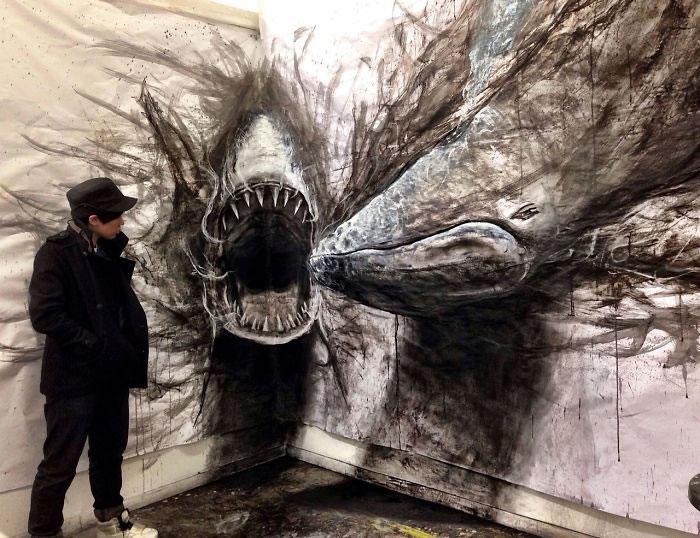 3d Artist Creates Ferocious Life-Sized Beasts (1)