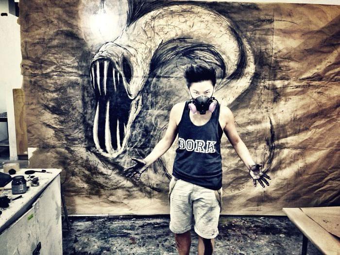 3d Artist Creates Ferocious Life-Sized Beasts (8)