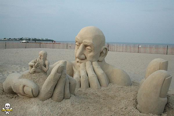 Sand Art Sculptures By Award Winning Sand Sculptor Carl Jara 1